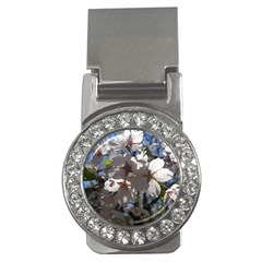 Cherry Blossoms Money Clip (CZ)