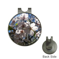 Cherry Blossoms Hat Clip with Golf Ball Marker