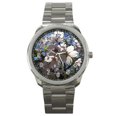 Cherry Blossoms Sport Metal Watch