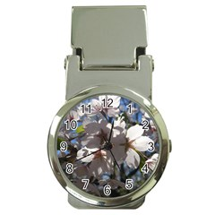 Cherry Blossoms Money Clip With Watch