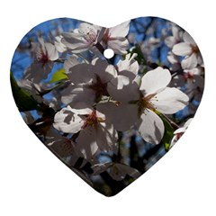 Cherry Blossoms Heart Ornament (two Sides)