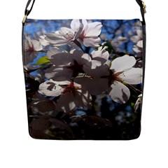 Cherry Blossoms Flap Closure Messenger Bag (large)