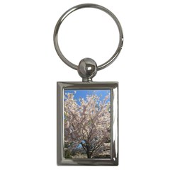 Cherry Blossoms Tree Key Chain (Rectangle)