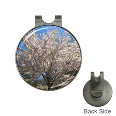 Cherry Blossoms Tree Hat Clip With Golf Ball Marker
