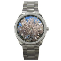 Cherry Blossoms Tree Sport Metal Watch