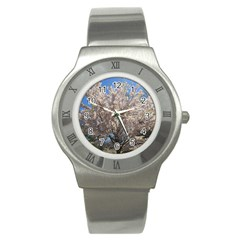 Cherry Blossoms Tree Stainless Steel Watch (slim)