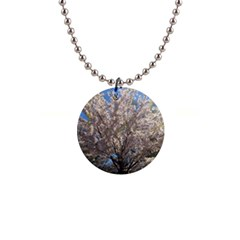Cherry Blossoms Tree Button Necklace