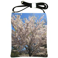 Cherry Blossoms Tree Shoulder Sling Bag