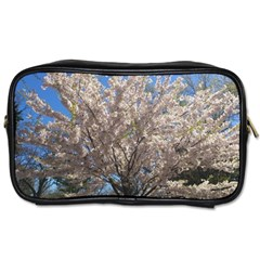 Cherry Blossoms Tree Travel Toiletry Bag (two Sides)