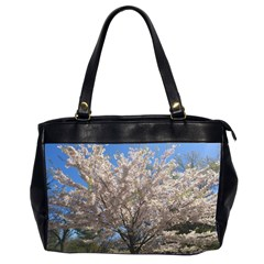 Cherry Blossoms Tree Oversize Office Handbag (two Sides)