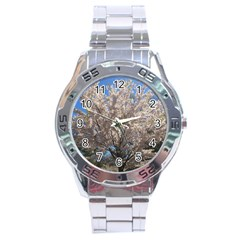 Cherry Blossoms Tree Stainless Steel Watch