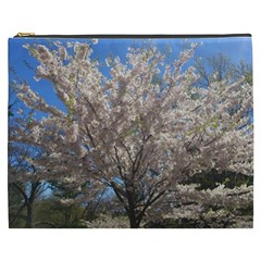 Cherry Blossoms Tree Cosmetic Bag (XXXL)