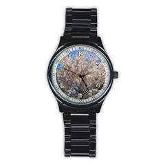 Cherry Blossoms Tree Sport Metal Watch (black)
