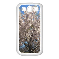 Cherry Blossoms Tree Samsung Galaxy S3 Back Case (White)