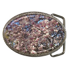 Sakura Belt Buckle (oval)