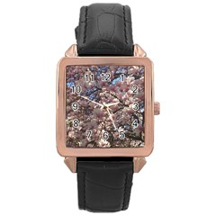 Sakura Rose Gold Leather Watch