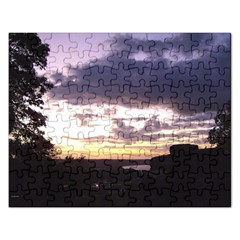 Sunset Over The Valley Jigsaw Puzzle (rectangle)