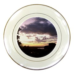 Sunset Over The Valley Porcelain Display Plate
