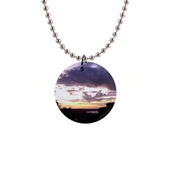 Sunset Over The Valley Button Necklace