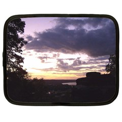 Sunset Over The Valley Netbook Sleeve (large)