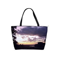 Sunset Over The Valley Large Shoulder Bag