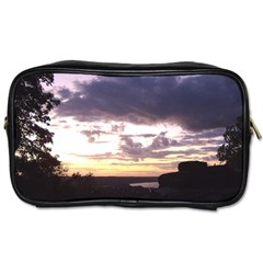 Sunset Over The Valley Travel Toiletry Bag (two Sides)