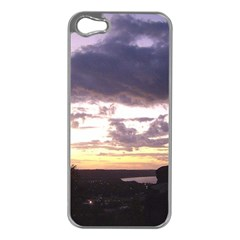 Sunset Over The Valley Apple Iphone 5 Case (silver)
