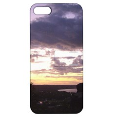 Sunset Over The Valley Apple Iphone 5 Hardshell Case With Stand