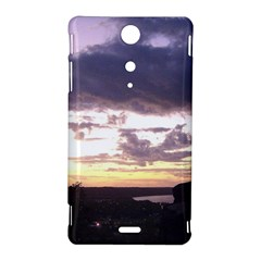 Sunset Over The Valley Sony Xperia TX Hardshell Case