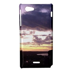 Sunset Over The Valley Sony Xperia J Hardshell Case