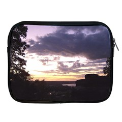Sunset Over The Valley Apple iPad Zippered Sleeve