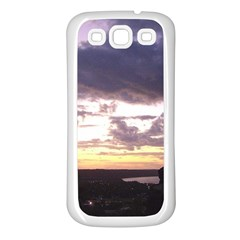 Sunset Over The Valley Samsung Galaxy S3 Back Case (White)