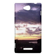 Sunset Over The Valley Sony Xperia C (S39H) Hardshell Case