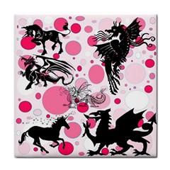 Fantasy In Pink Ceramic Tile