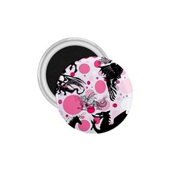 Fantasy In Pink 1.75  Button Magnet
