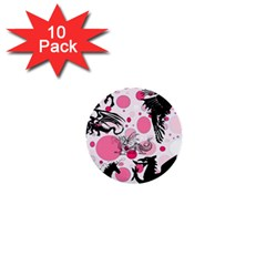 Fantasy In Pink 1  Mini Button (10 pack)
