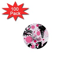 Fantasy In Pink 1  Mini Button (100 Pack)