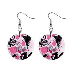 Fantasy In Pink Mini Button Earrings