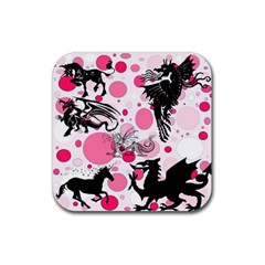 Fantasy In Pink Drink Coasters 4 Pack (Square)