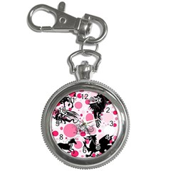Fantasy In Pink Key Chain Watch