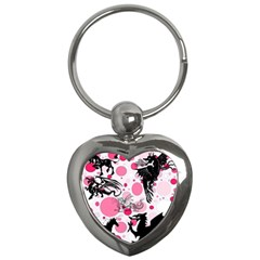 Fantasy In Pink Key Chain (Heart)
