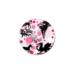 Fantasy In Pink Golf Ball Marker