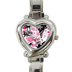 Fantasy In Pink Heart Italian Charm Watch
