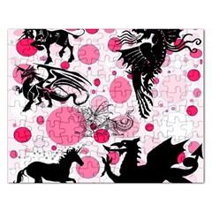 Fantasy In Pink Jigsaw Puzzle (Rectangle)