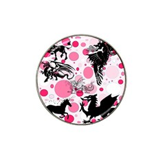Fantasy In Pink Golf Ball Marker 4 Pack (for Hat Clip)