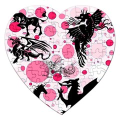 Fantasy In Pink Jigsaw Puzzle (Heart)