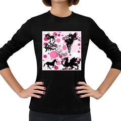 Fantasy In Pink Women s Long Sleeve T-shirt (Dark Colored)
