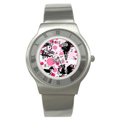 Fantasy In Pink Stainless Steel Watch (Slim)