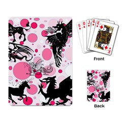Fantasy In Pink Playing Cards Single Design