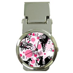 Fantasy In Pink Money Clip with Watch